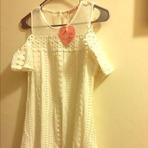 Lizzie Woven cold shoulder dress